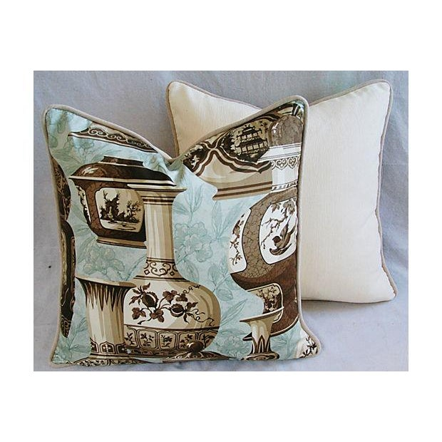 Fabric Custom Braemore Chinoiserie Vase Pillows - A Pair For Sale - Image 7 of 10