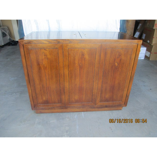 Henredon Campaign Buffet Server For Sale - Image 5 of 8