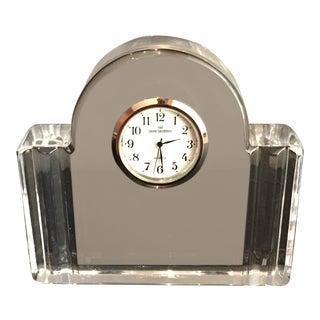 Val St Lambert Crystal Clock For Sale