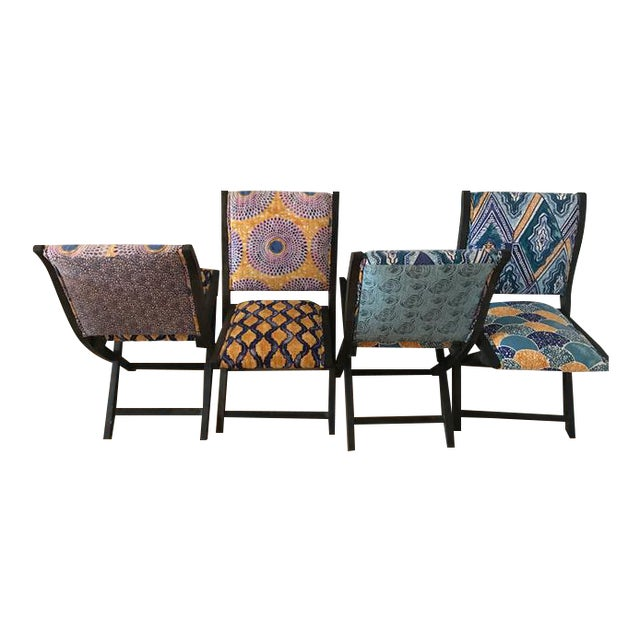 Anthropologie Terai Folding Chairs - Set of 4 - Image 2 of 5