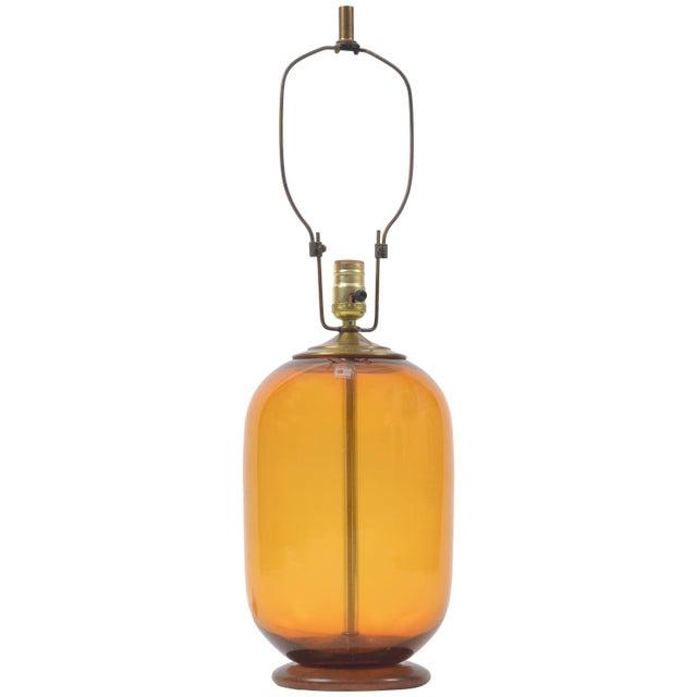 Blenko Blown Glass Lamp Designed by Don Shepherd For Sale - Image 10 of 10