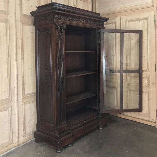 Late 19th Century 19th Century French Louis XVI Neoclassical Bookcase For Sale - Image 5 of 13