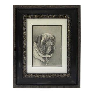 Framed Dog Portrait 1 For Sale