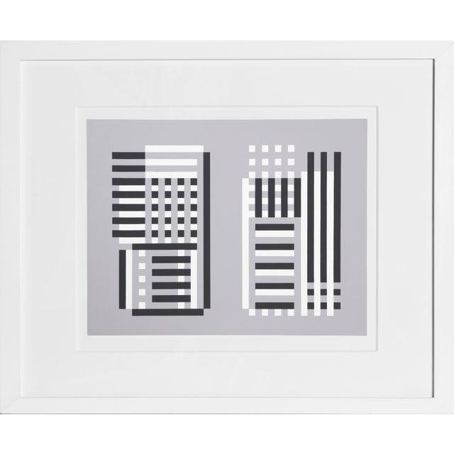 Josef Albers Josef Albers - Portfolio 2, Folder 11, Image 1 Framed Silkscreen For Sale - Image 4 of 4