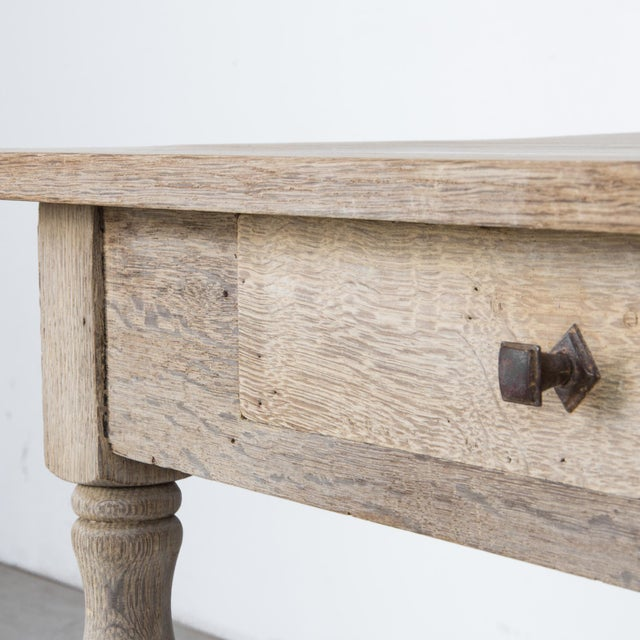 Tan Antique French Oak Table With Drawer For Sale - Image 8 of 12