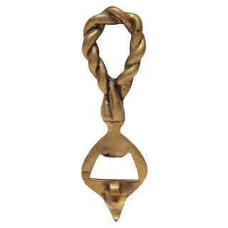 Brass Twisted Rope Bottle Opener For Sale