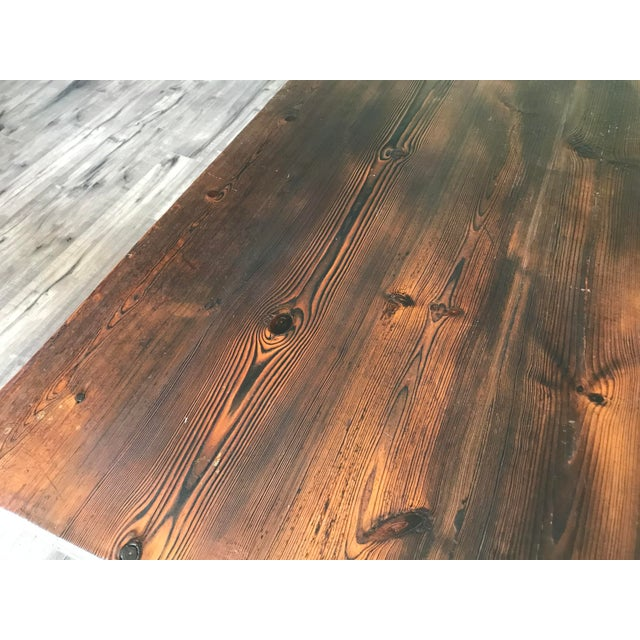 Farmhouse 19th Century Spanish Trestle Table or Desk For Sale - Image 3 of 10