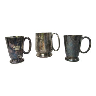 Antique English Railway Ware Mugs-3 Pieces For Sale
