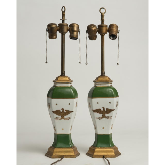 Manufacture de Sevres Late 19th Century French Napoleonic Lamps Style of Sèvres - a Pair For Sale - Image 4 of 12