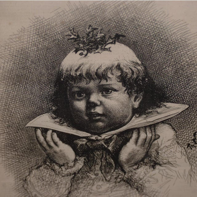 """See! The Christmas Plum-Pudding"" Illustration by Thomas Nast for Harper's Weekly c.1880s Wonderful images of a young..."