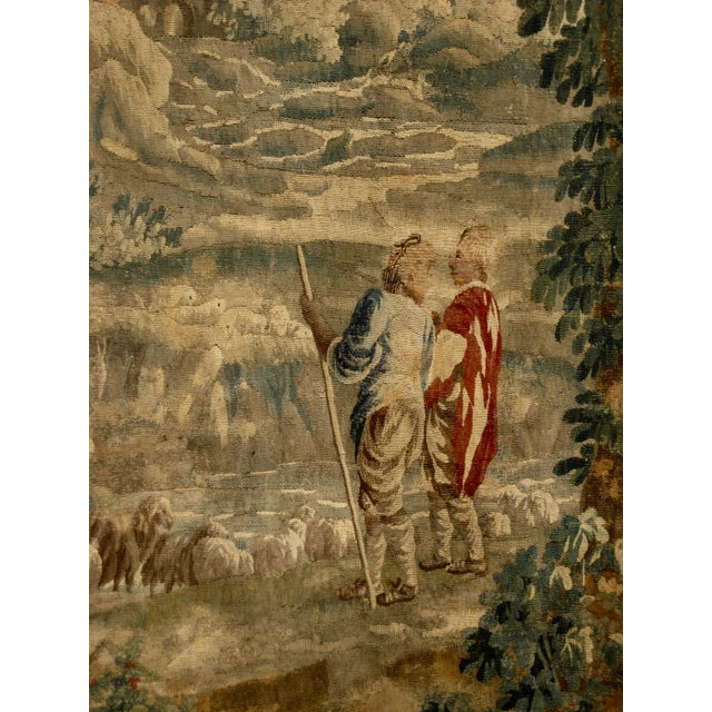 1700s French Aubusson Verdure Tapestry Wall Hanging For Sale - Image 6 of 11