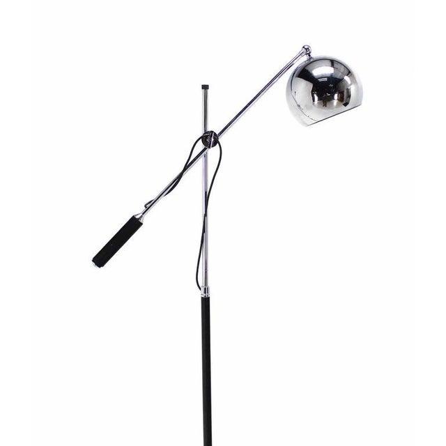 Vintage Mid Century Single Chrome Globe Cantilever Floor Lamp