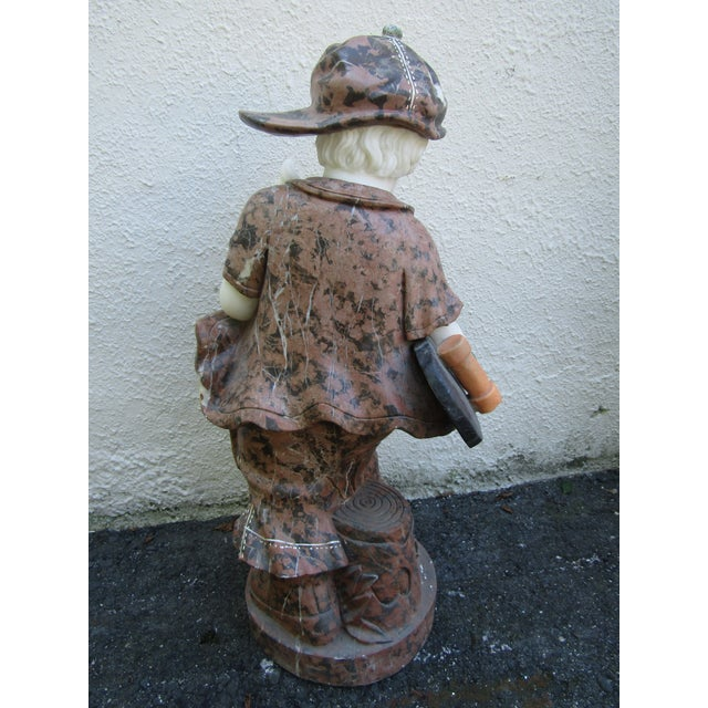 Granite Statue of a Boy Holding a Skateboard For Sale - Image 9 of 11