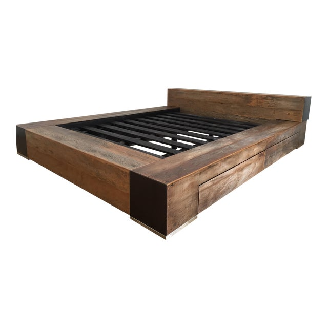 Environment Furniture Reclaimed Wood Edge Bed - Image 1 of 4