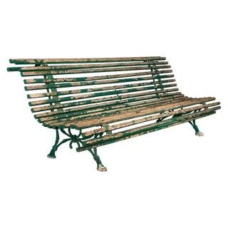 19th Century Parisian Park Graden Bench For Sale