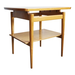 Jens Risom Mid-Century Floating End Table For Sale