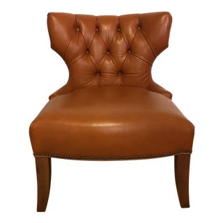 Leonardo Tufted Leather Room and Board Chair For Sale