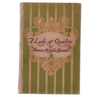 "1896 ""First Edition, a Lady of Quality"" Collectible Book For Sale"