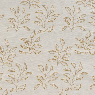 Greige Mya Fabric, Sample, Wheat on Oyster in Linen For Sale