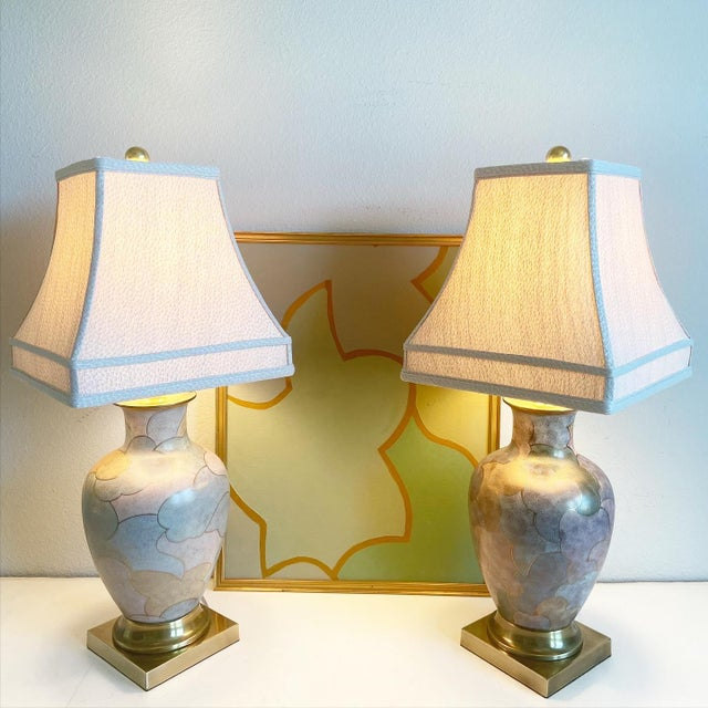1960s 1960s Frederick Cooper Lamps & Shades - a Pair For Sale - Image 5 of 9
