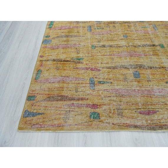 Vintage Turkish Art Deco Wool Rug - 6′11″ × 9′10″ - Image 4 of 4