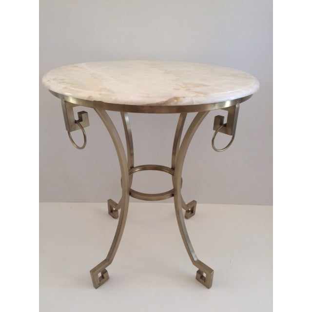 Todd Hase Christelle Gueridon Onyx Top Side Table For Sale - Image 9 of 9