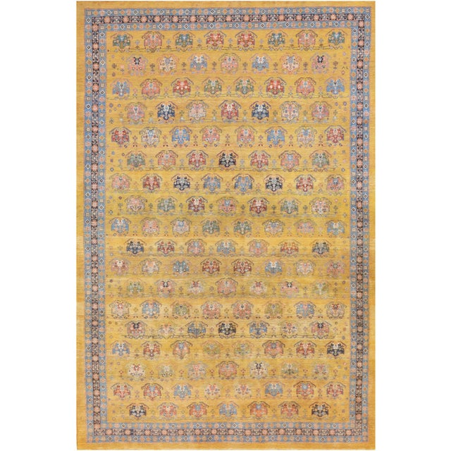 A brand new superb quaity handwoven Gabbeh from Southern Iran. This highly sought-after rug demonstrates a tribal design...