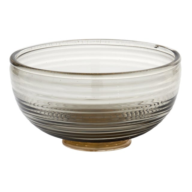 Contemporary Gray and Avventurina Murano Glass Bowl For Sale - Image 11 of 11