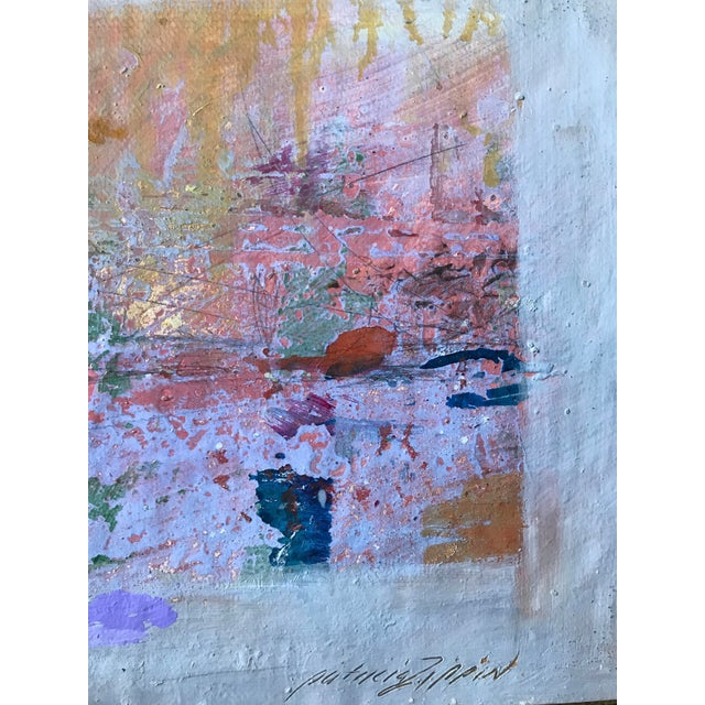 Abstract Pink, Purple and Gold 1980s Abstract Bay Area Artist For Sale - Image 3 of 6