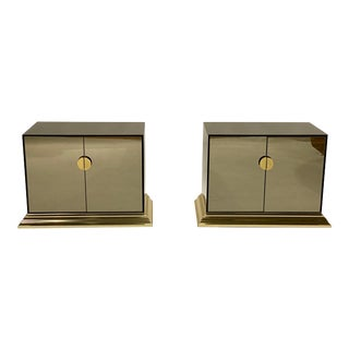 Vintage Mirrored Cabinets / Nightstands by Ello For Sale