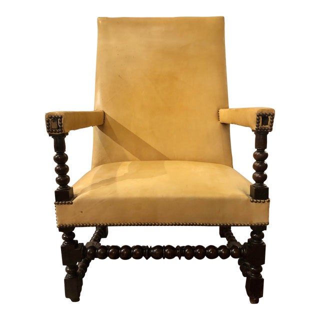 Louis XIII Period Arm Chair For Sale
