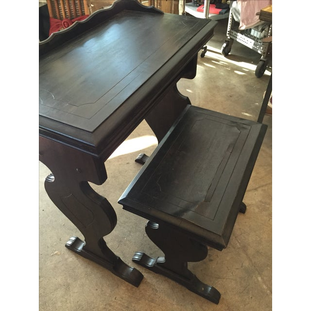 Vintage Writing Desk and Nesting Bench - Image 5 of 11