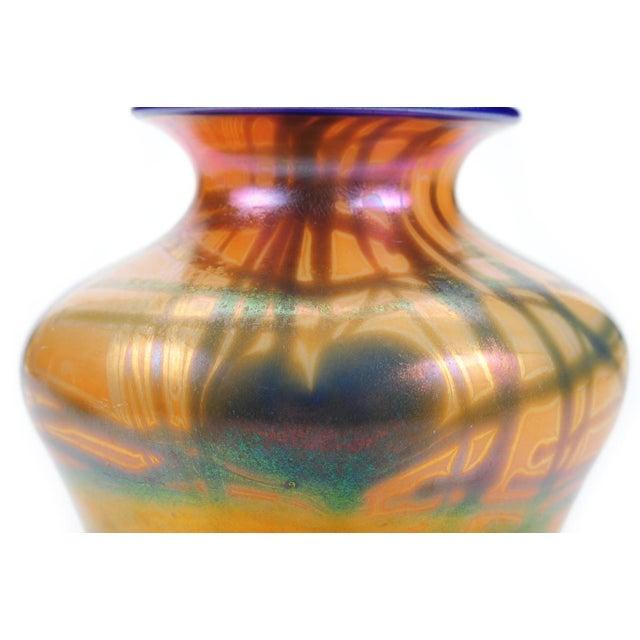 Art Glass Imperial Art Glass Heart & Vine Decor Vases- A Pair For Sale - Image 7 of 9