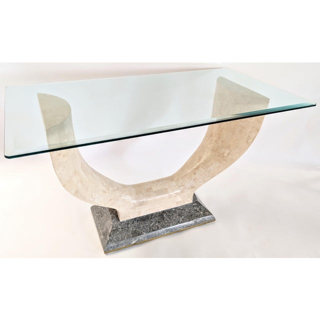 1970s Mid-Century Modern Maitland Smith Tessellated Stone Console or Center Table For Sale - Image 13 of 13