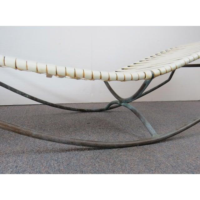 Circa 1955 Walter Lamb for Brown Jordan Bronze Verdigris Waikiki Lounger For Sale - Image 12 of 13