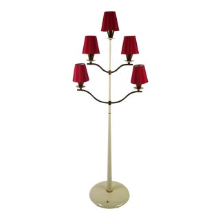 Modern Italian Five Light Floor Lamp 1940s For Sale