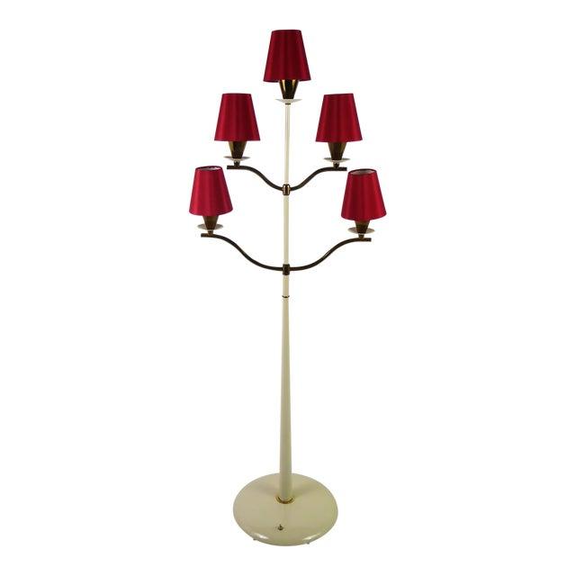 Modern Italian Five Light Floor Lamp 1940s For Sale