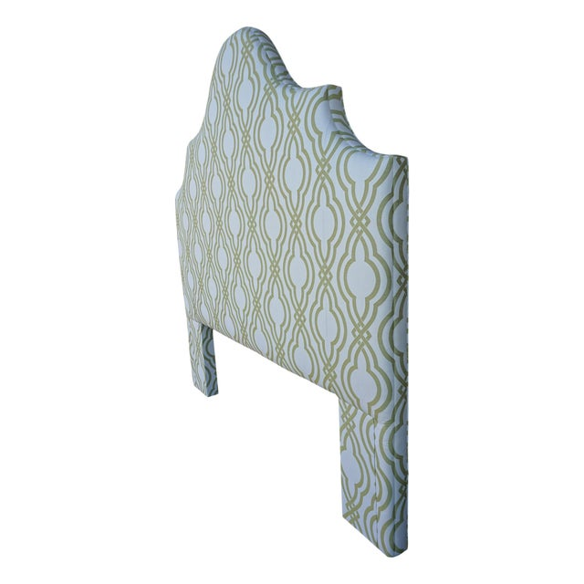 White Custom Pindler Ca King Headboard For Sale - Image 8 of 9