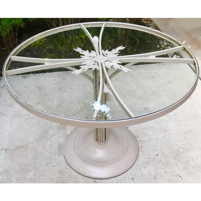 Metal 1960s Brown Jordan Iron Outdoor Dining Table, Circa 1960 For Sale - Image 7 of 7