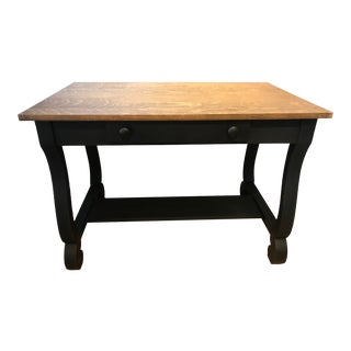 19th Century Empire Tiger Oak Writing Desk For Sale