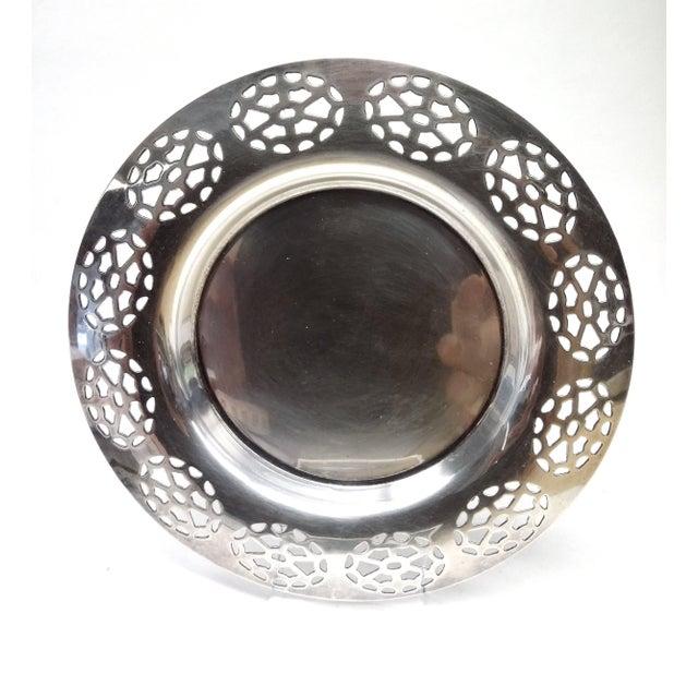 Oneida Silver Cutout Wine Plate - Image 2 of 10