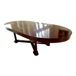Transitional Barbara Barry Baker Oval Dining Table For Sale