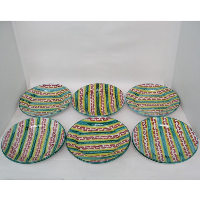 Italian Salad Plates - Set of 6 For Sale - Image 4 of 7
