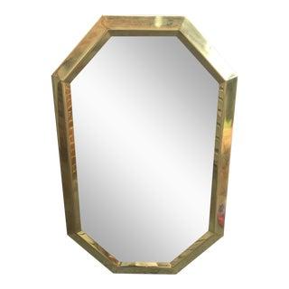 Mid Century Modernist Mastercraft Solid Brass Octagonal Mirror