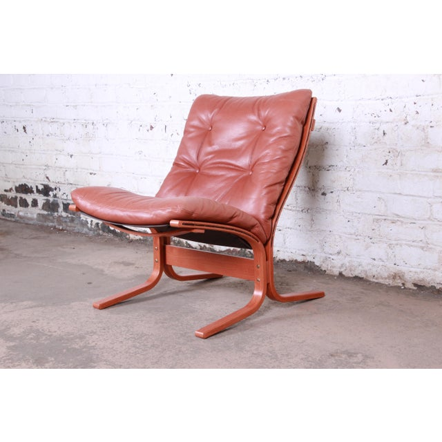 Ingmar Relling for Westnofa Bentwood Teak and Leather Siesta Lounge Chair and Ottoman For Sale - Image 10 of 13