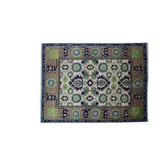 Traditional Handmade Wool Oushak Rug - 9' x 12'