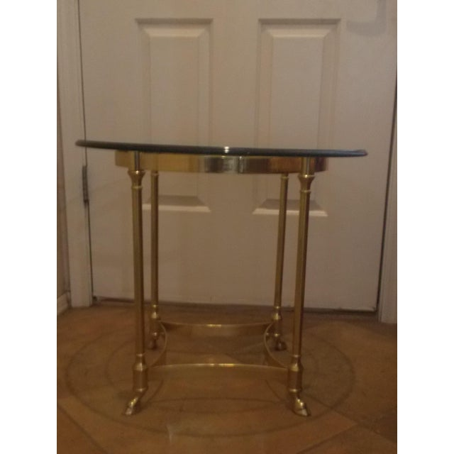 La Barge Glass & Brass End Table - A Pair - Image 4 of 5