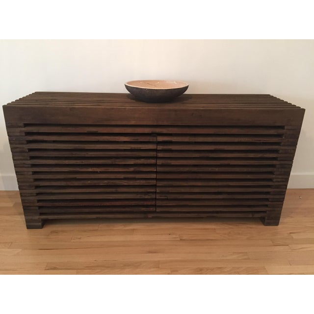 Restoration Hardware Slatted Door Sideboard - Image 3 of 7