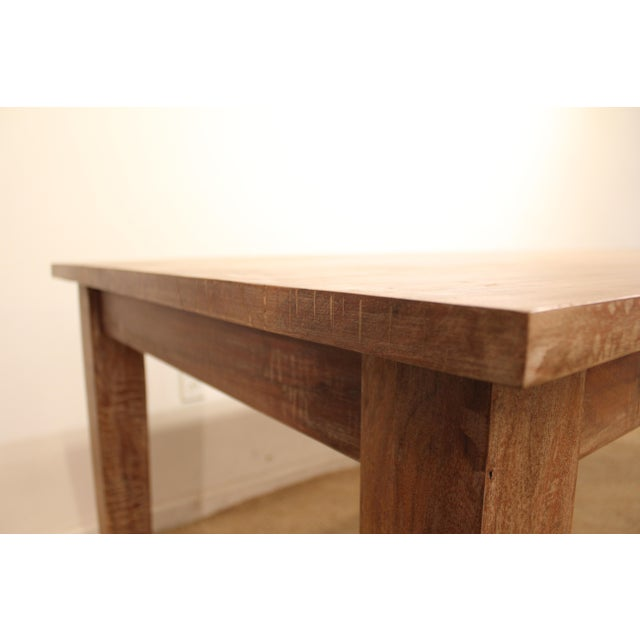 """French Country Farm Rustic Dining Table 90"""" Long - Image 9 of 11"""