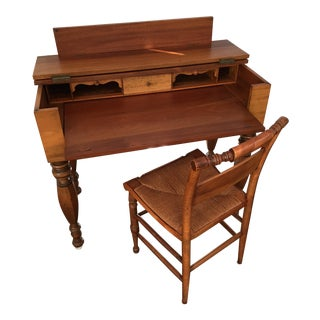 Vintage Victorian Writing Desk and Chair
